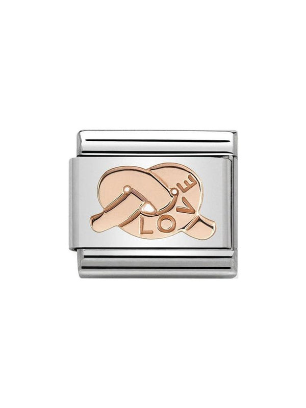 Nomination Classic Steel and Rose Gold Love Knot Charm 430101-22