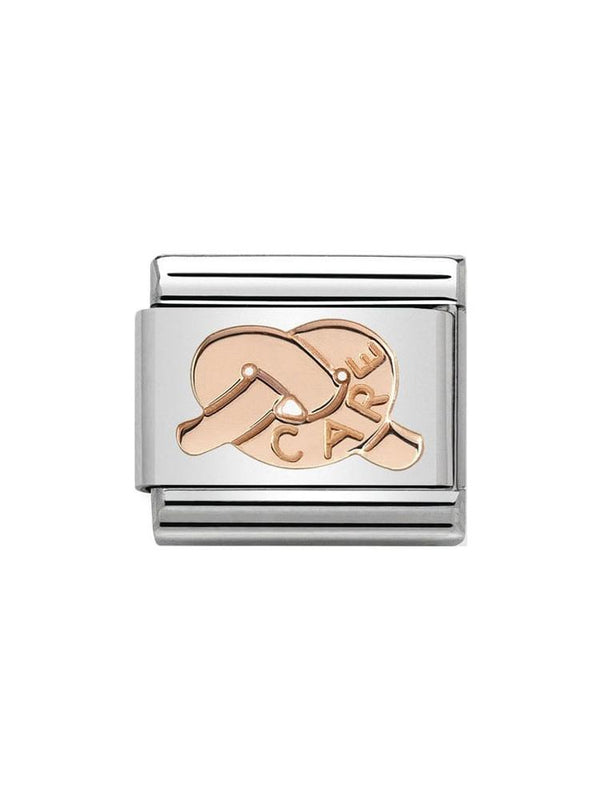 Nomination Classic Steel and Rose Gold Care Knot Charm 430101-23