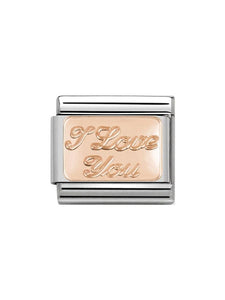 Nomination Classic Steel and Rose Gold I Love You Charm 430101-30