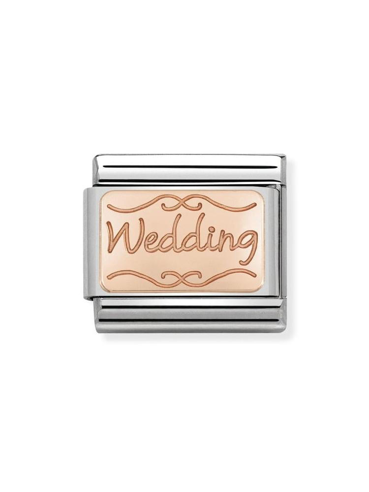 Nomination Classic Wedding Steel and Rose Gold Charm 430101-40