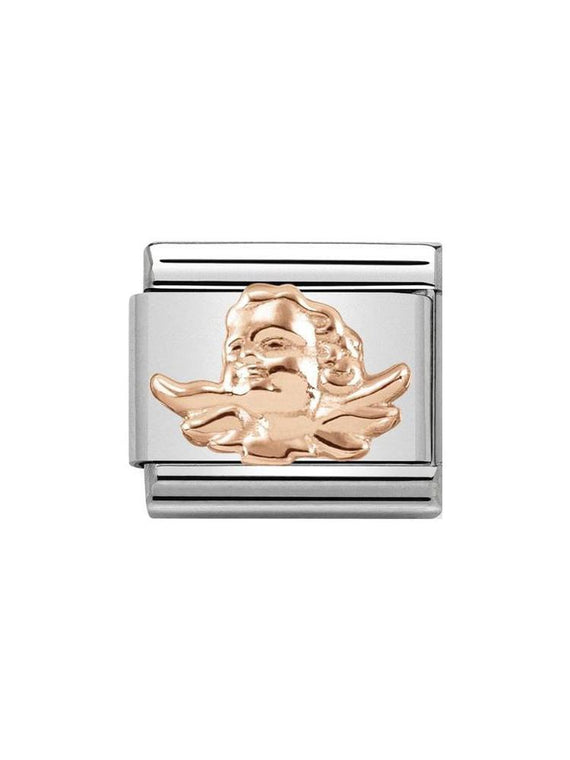 Nomination Classic Guardian Angel Steel and Rose Gold Charm 430106-06