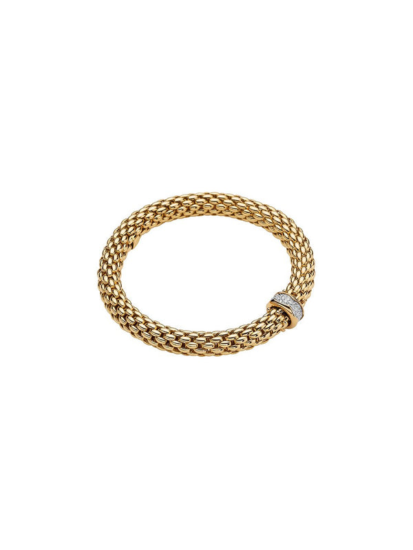 Fope Love Nest Bracelet in 18ct Yellow Gold with Diamonds