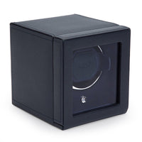 Wolf Cub Single Watch Winder with Cover in Navy 461117