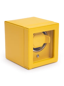 Wolf Cub Single Watch Winder with Cover in Yellow 461192