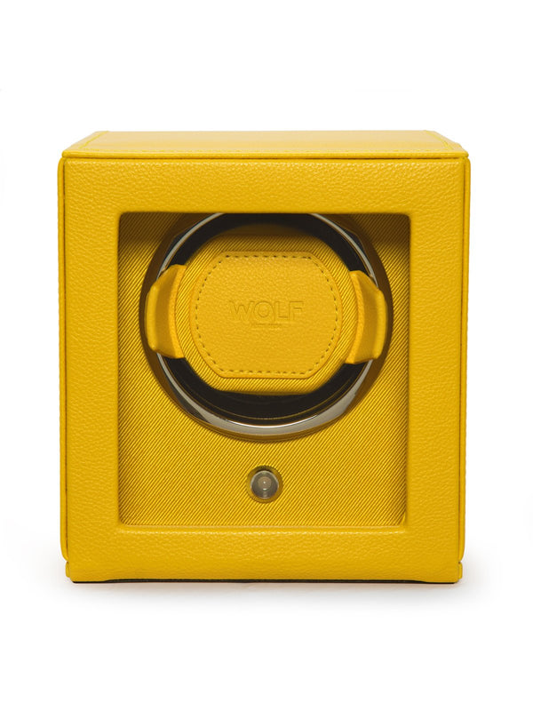 Wolf Cub Yellow Leather Watch Winder with Cover 461192