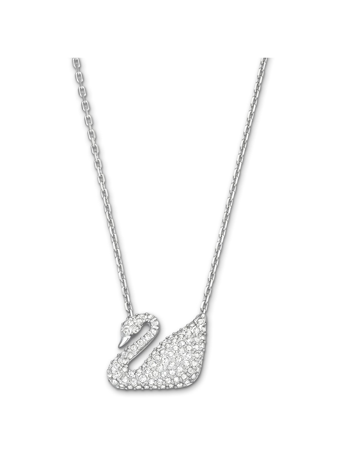Swarovski Swan Rhodium Plated and Clear Crystal Necklace 5007735