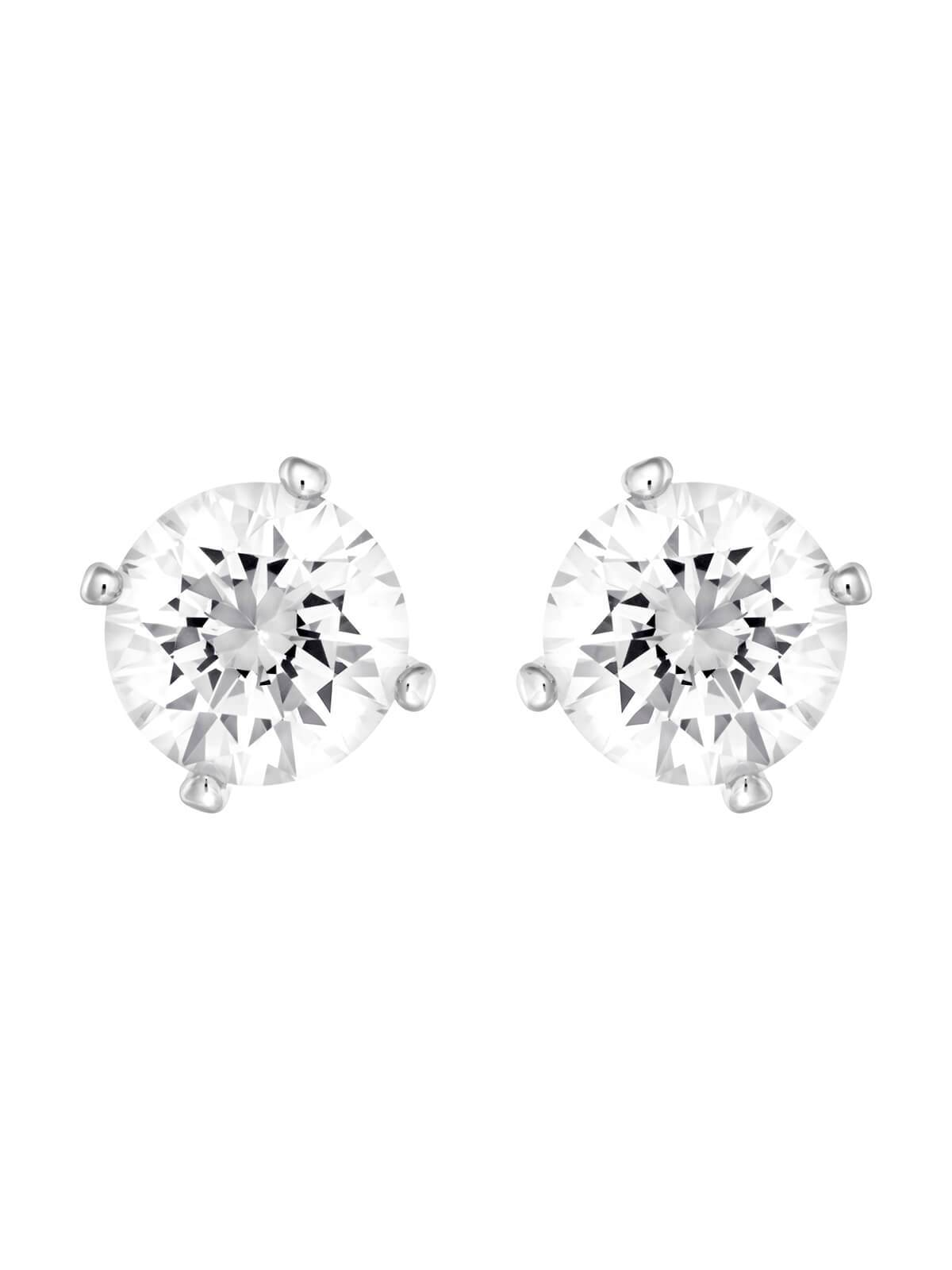 5183618 Swarovski Attract Pearl Rhodium Plated and Crystal Stud Earrings