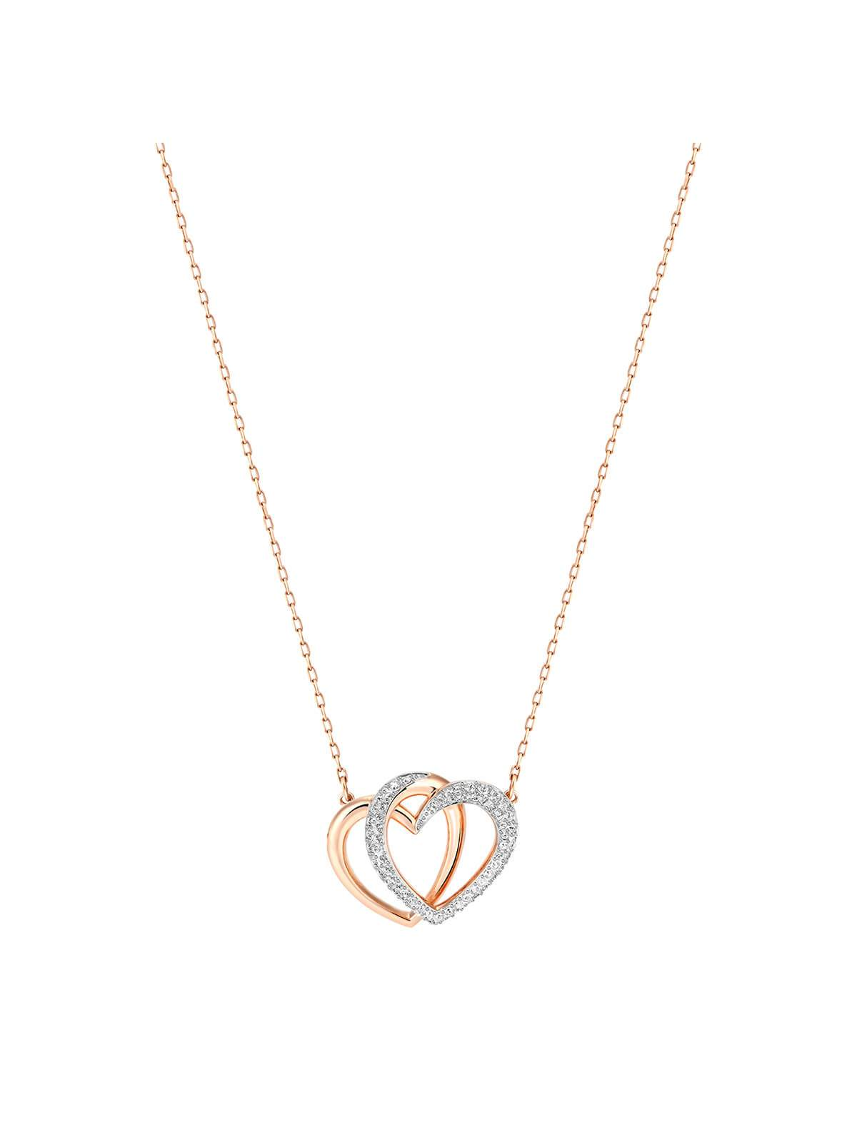 Swarovski Dear Rhodium and Rose Gold Plated Medium Necklace 5194826