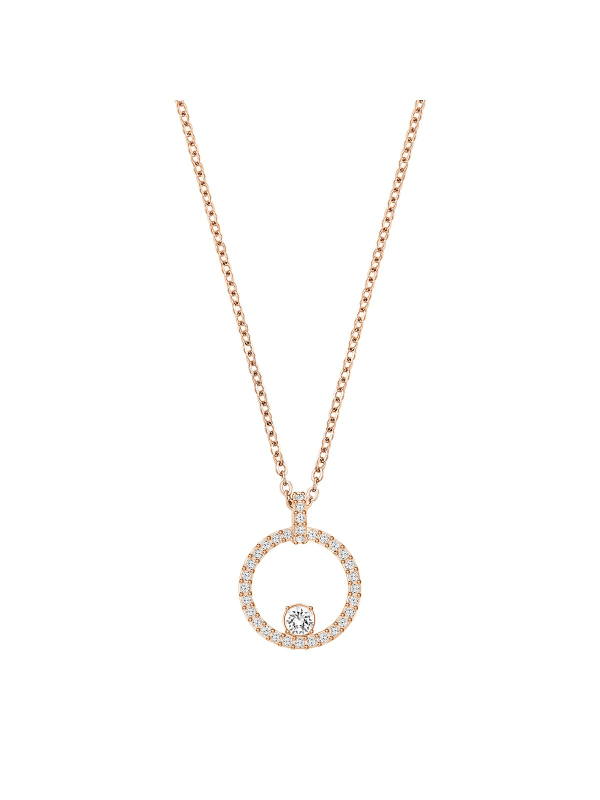 Swarovski Creativity Rose Gold Plated & Clear Crystal Necklace 5202446