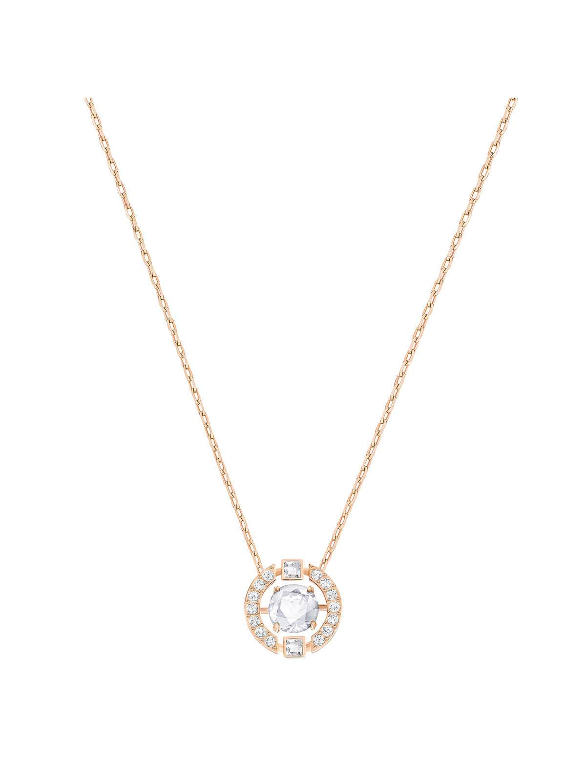 Swarovski Sparkling Dance Round Rose Gold Plated Necklace 5272364