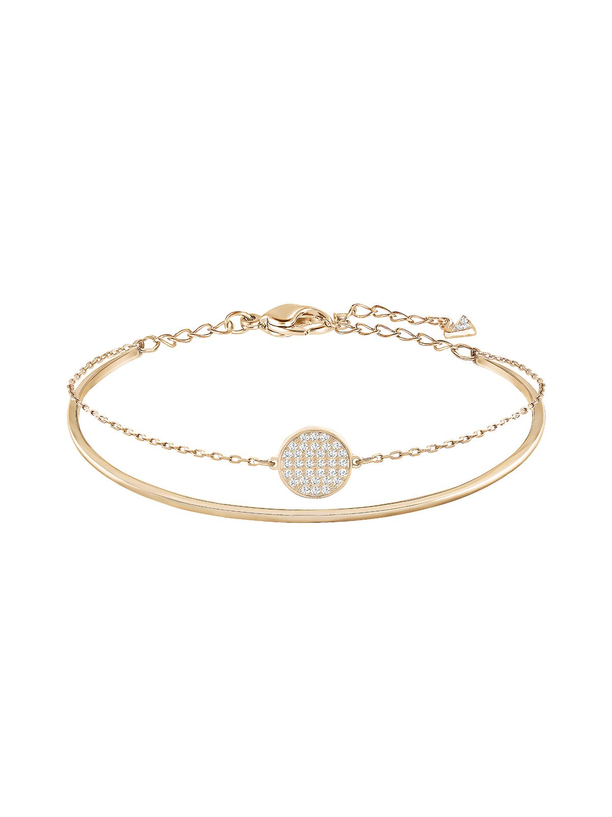 Swarovski Ginger Rose Gold Plated and Clear Crystal Bangle 5274892