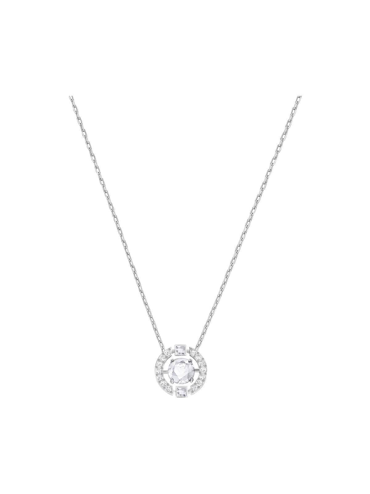 Swarovski Sparkling Dance Rhodium Plated and Clear Crystal Necklace 5286137