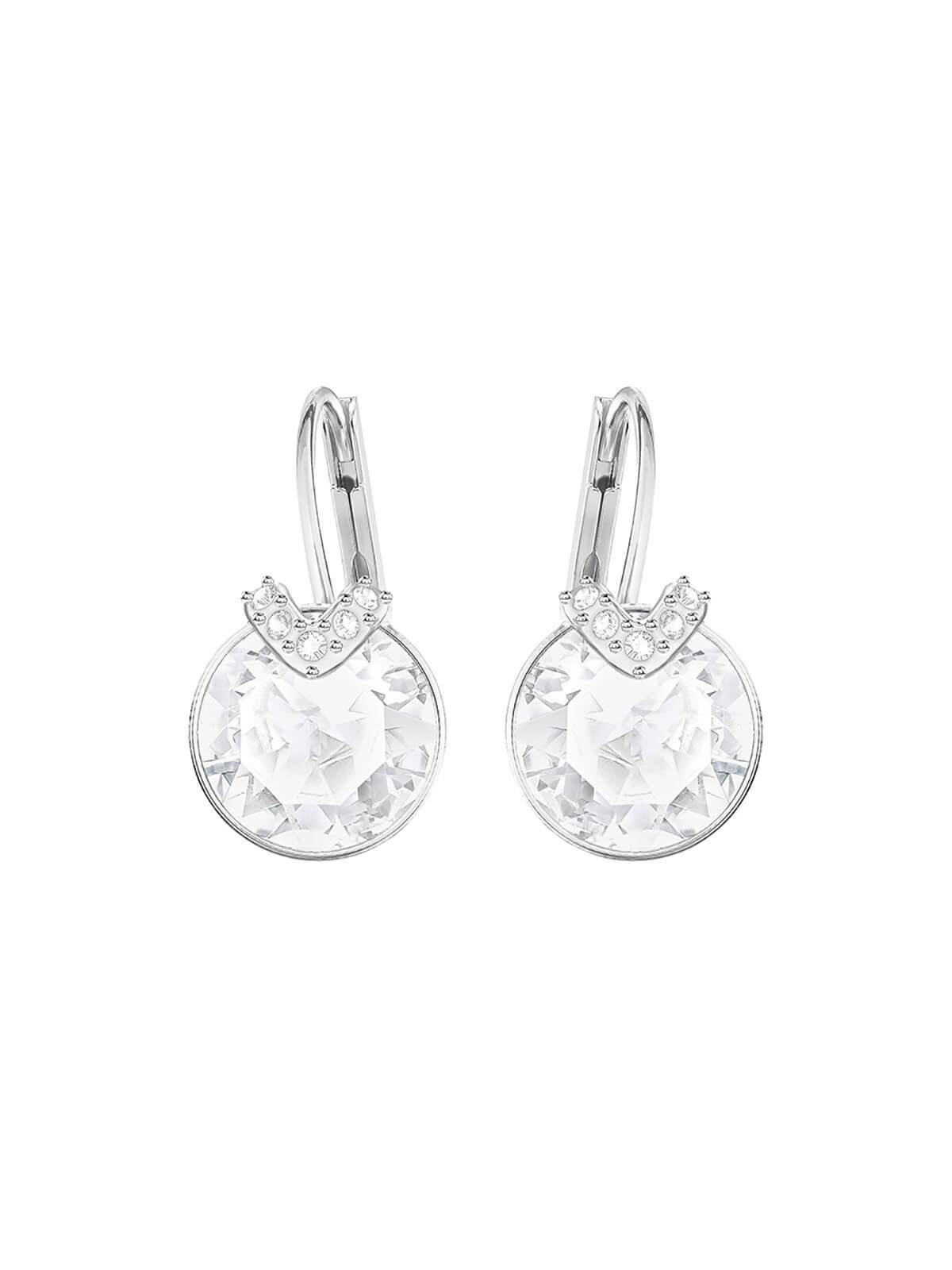 Swarovski Bella V Rhodium Plated and Clear Crystal Earrings 5292855