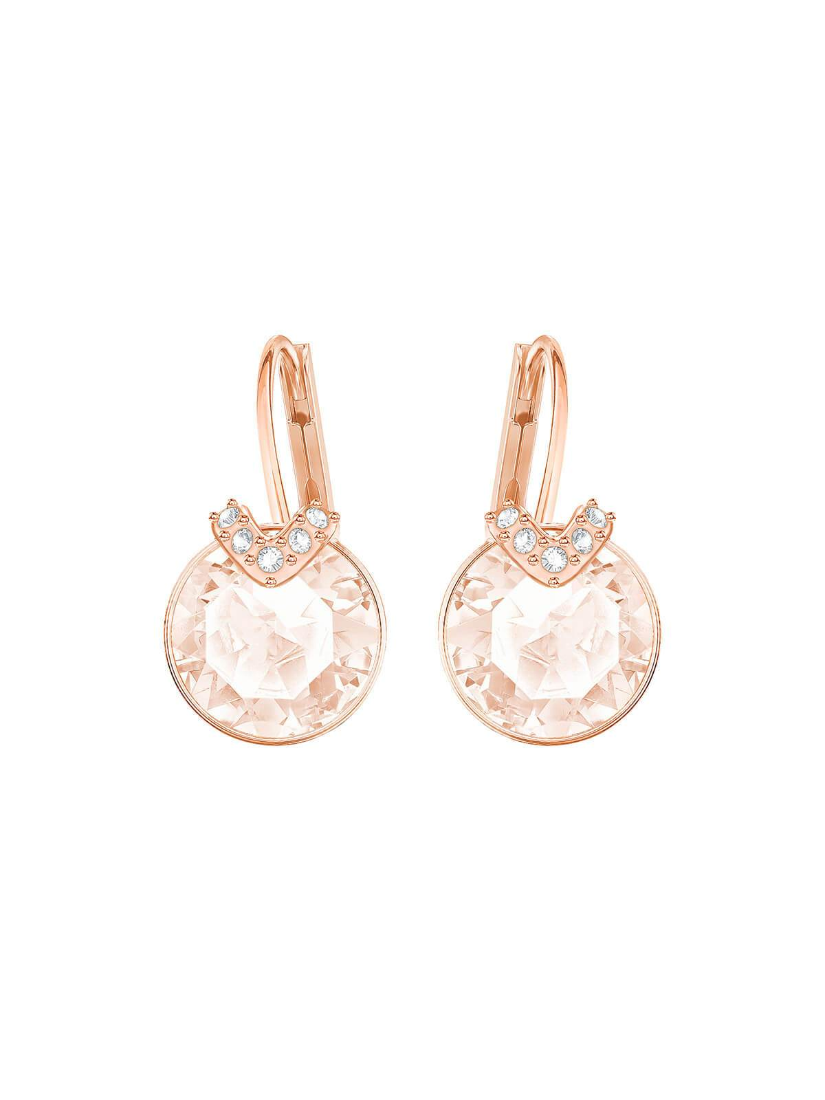 Swarovski Bella V Rose Gold Plated White Crystal Earrings 5299318