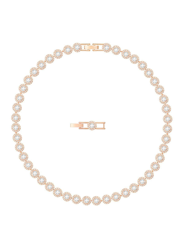 Swarovski Angelic All-Around Rose Gold Plated and Clear Crystal Necklace 5367845
