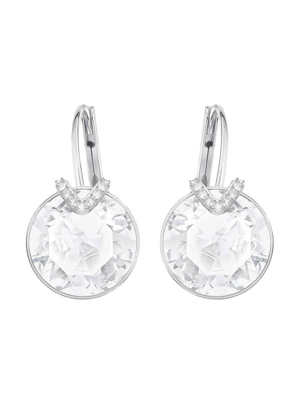 Swarovski Bella V Large Rhodium Plated and Clear Crystal Earrings 5370854