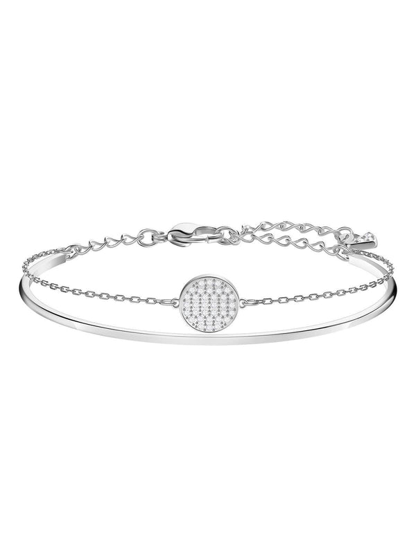 Swarovski Ginger Rhodium Plated Clear Crystal Bangle 5389044