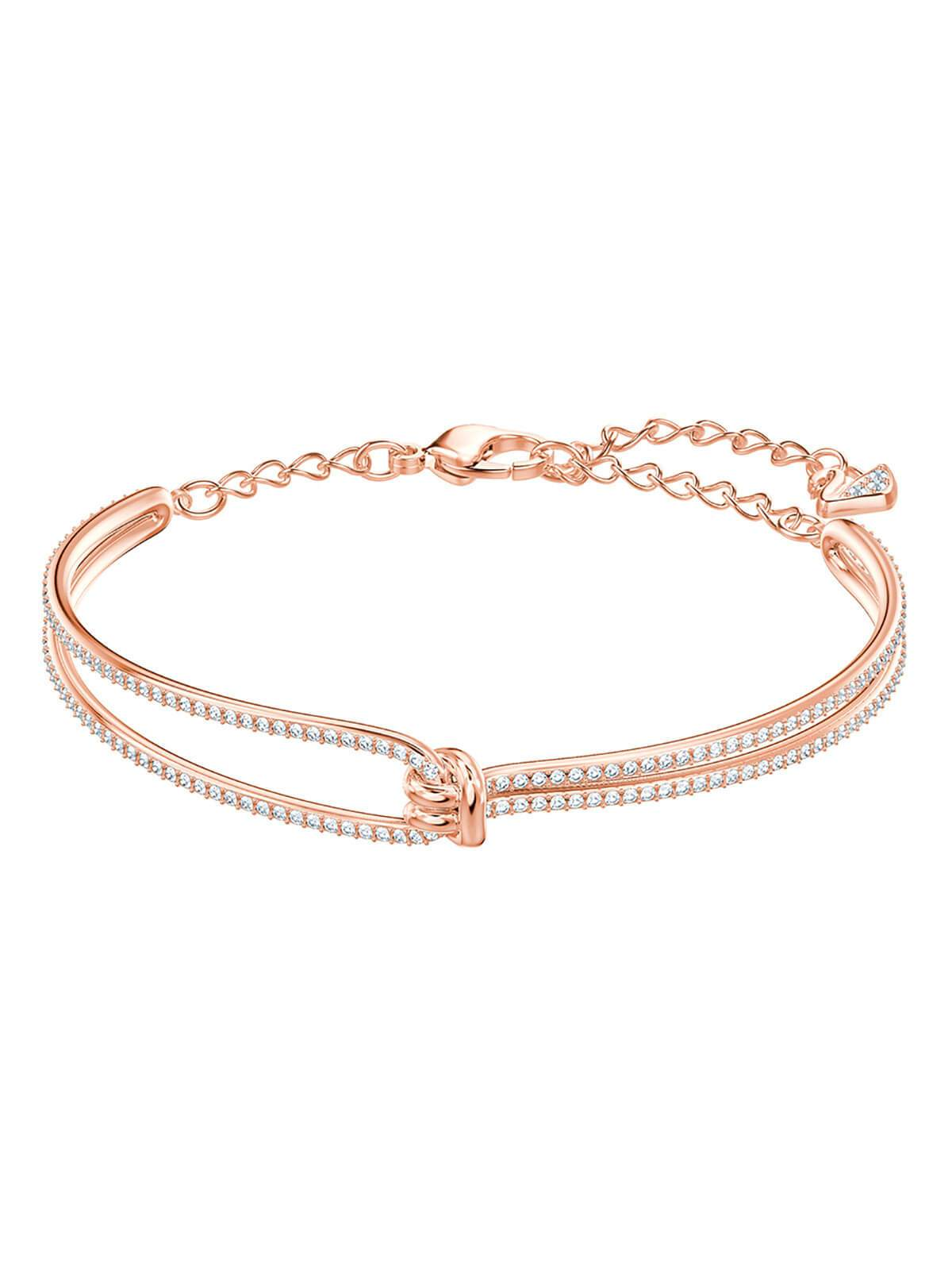 Swarovski Lifelong Rose Gold Plated and Clear Crystal Bangle 5390818
