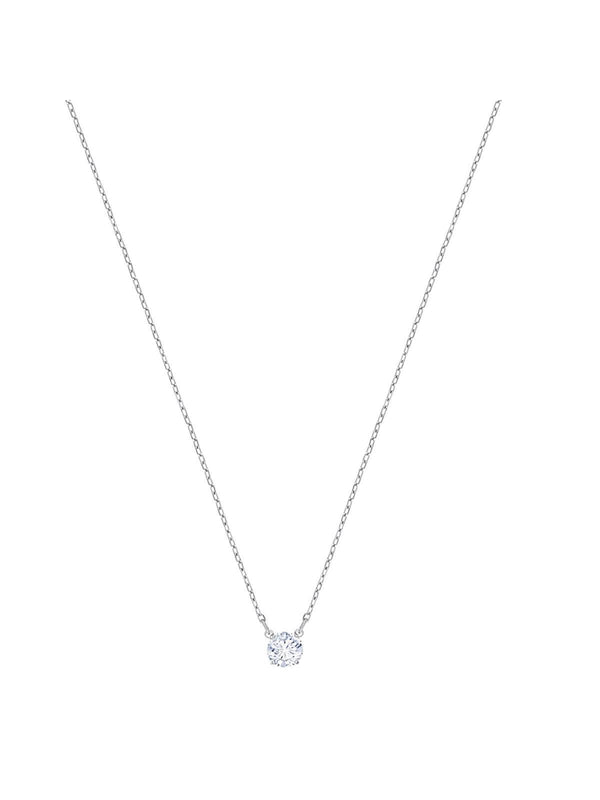 Swarovski Attract Round Rhodium Plated and Clear Crystal Necklace 5408442