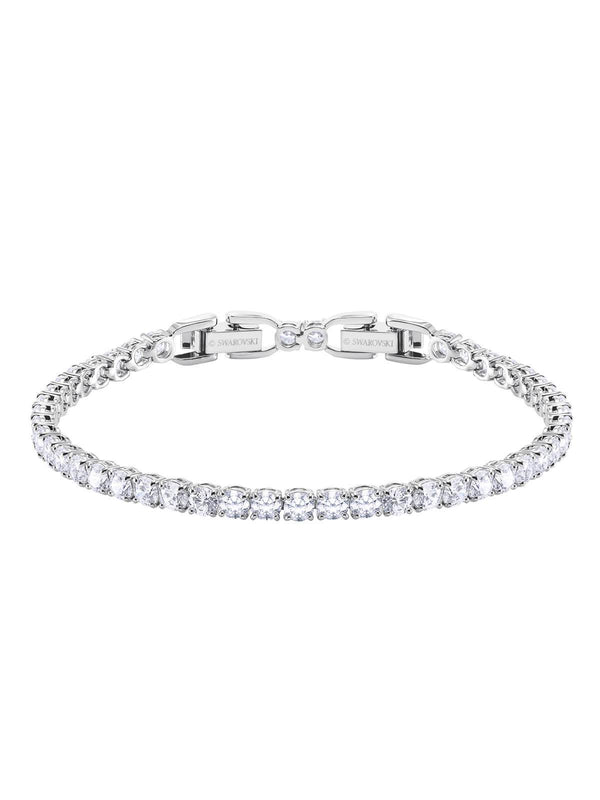 Swarovski Tennis Rhodium Plated and Clear Crystal Deluxe Bracelet 5409771