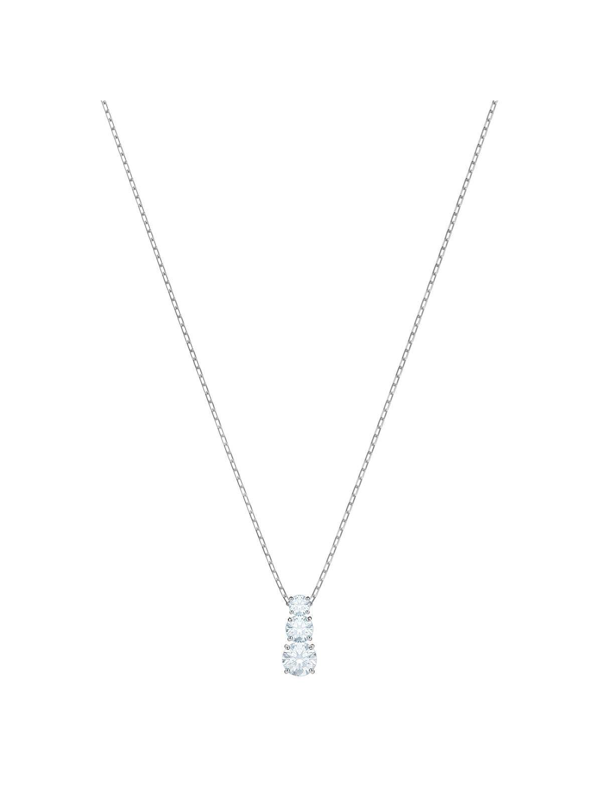 Swarovski Attract Trilogy Rhodium Plated and Clear Crystal Pendant 5414970