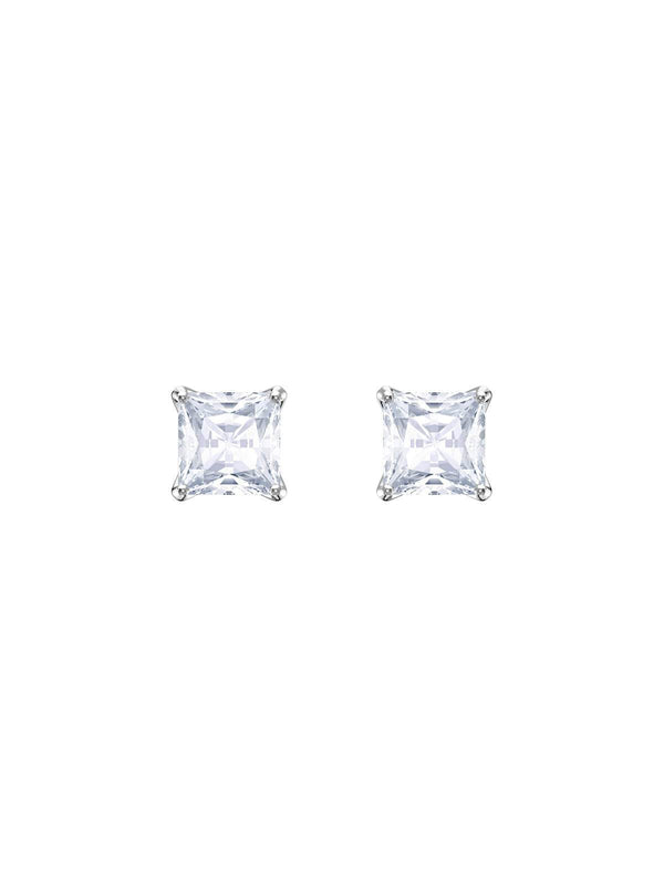 Swarovski Attract Rhodium Plated and Clear Crystal Stud Earrings 5430365