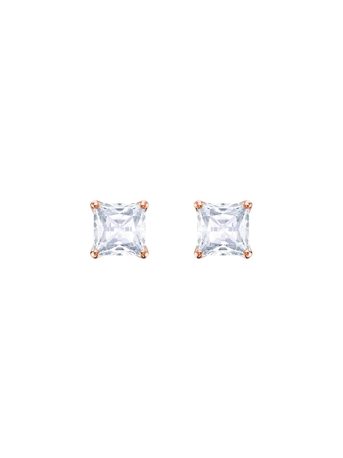 Swarovski Attract Rose Gold Plated and Clear Crystal Stud Earrings 5431895