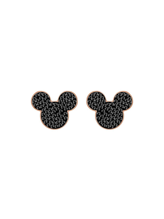 Swarovski Mickey & Minnie Rose Gold Plated and Crystal Mickey Mouse Stud Earrings 5435137