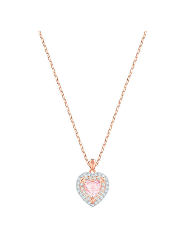 Swarovski One Rose Gold Plated and Crystal Necklace 5439314