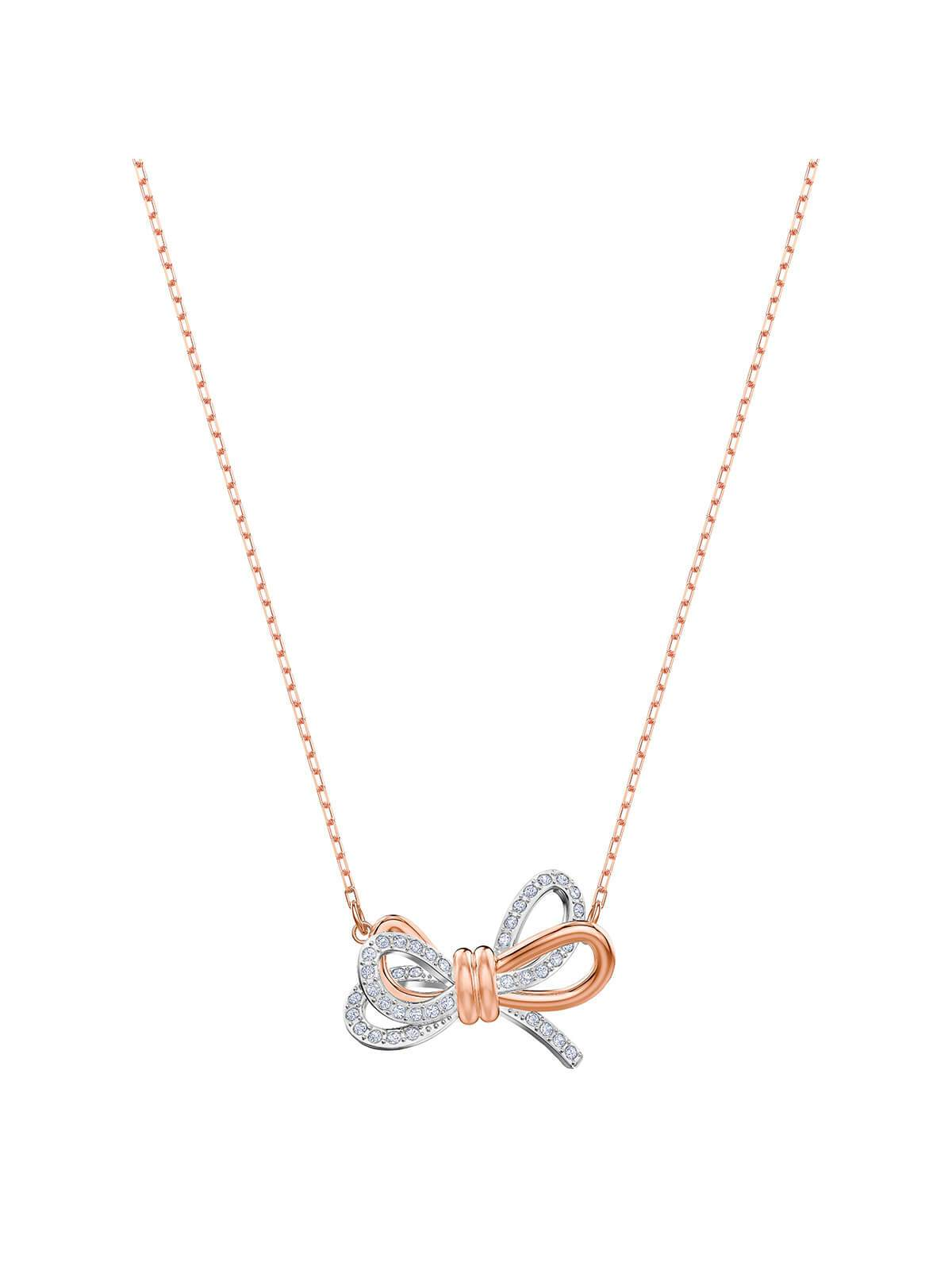 Swarovski Lifelong Bow Mixed Plating and Crystal Necklace 5440636