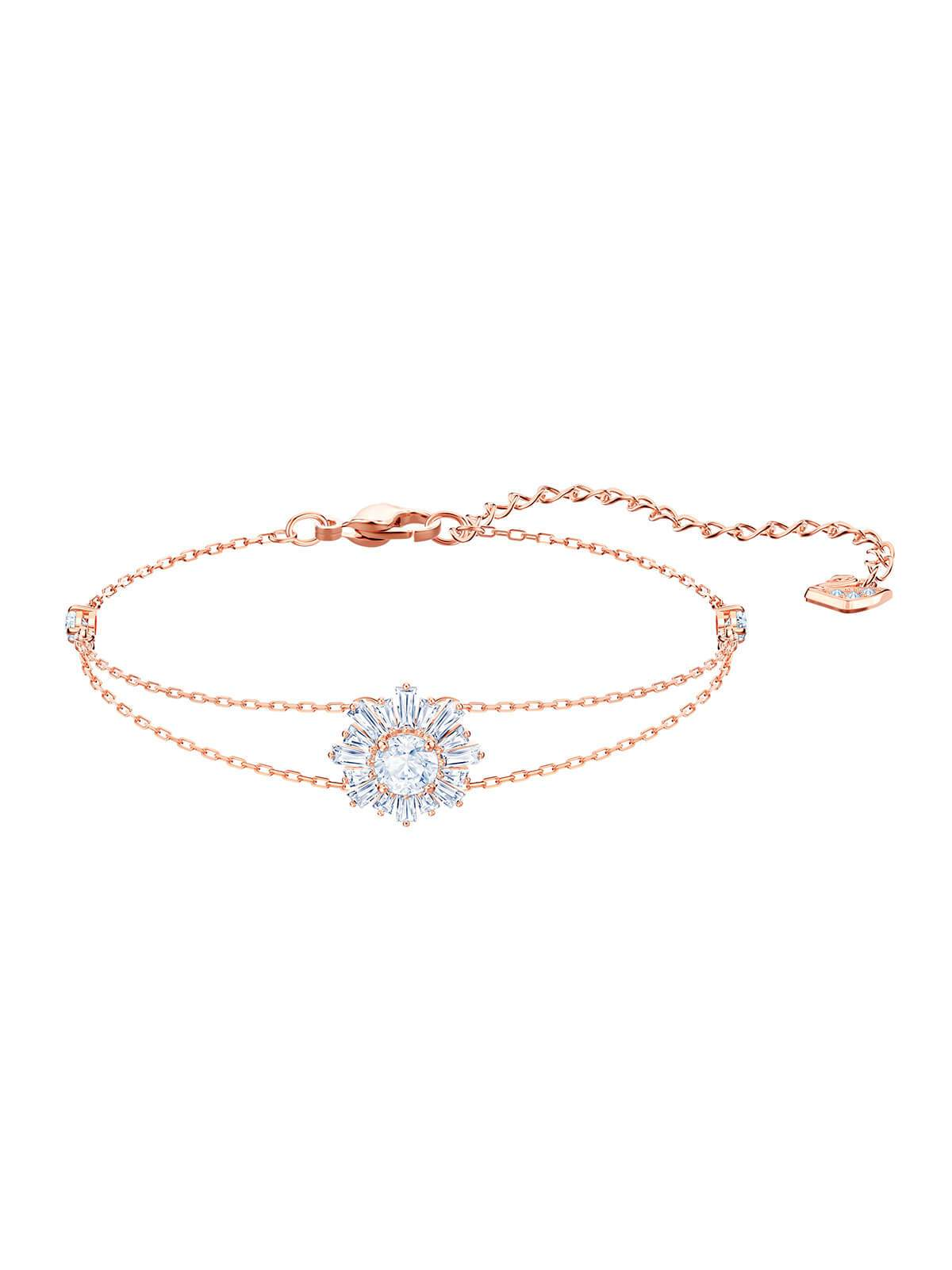 Swarovski Sunshine Rose Gold Plated and Clear Crystal Bracelet 5451357