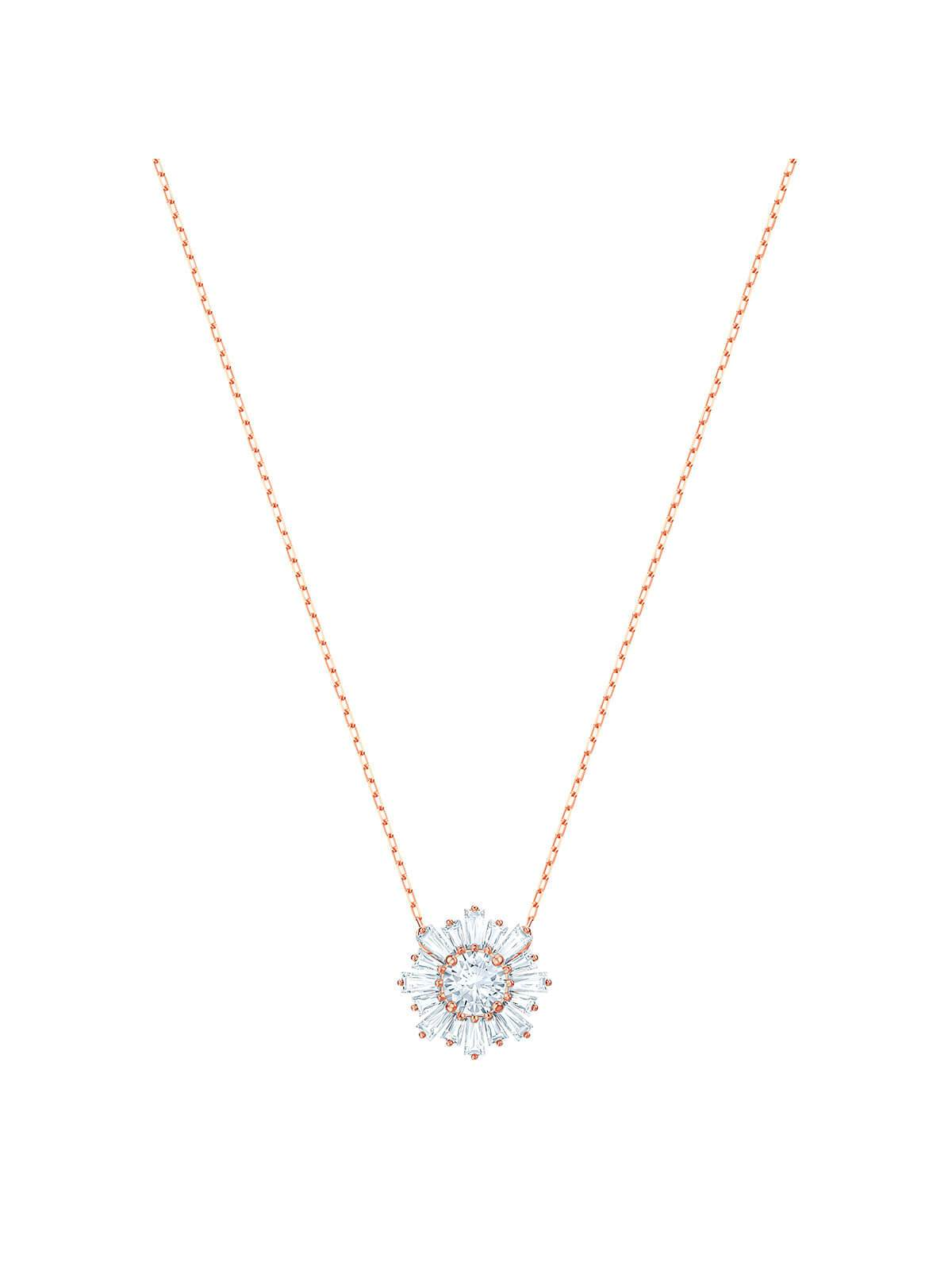 Swarovski Sunshine Rose Gold Plated and Clear Crystal Necklace 5451376