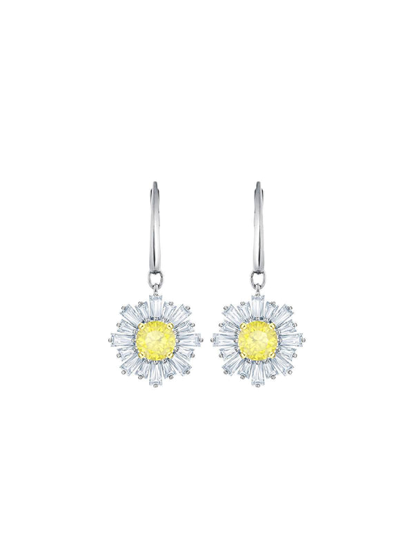 Swarovski Sunshine Rhodium Plated and Crystal Drop Earrings 5479914