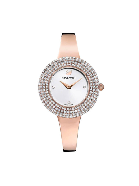 5484073 Swarovski Crystal Rose Gold Plated Stainless Steel Quartz Watch on Bracelet