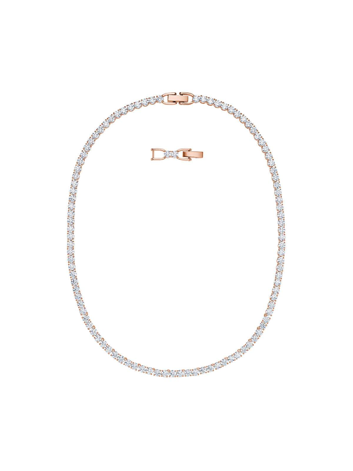601c735a00c42 Swarovski Tennis Deluxe Rose Gold Plated & Crystal All-Around Necklace
