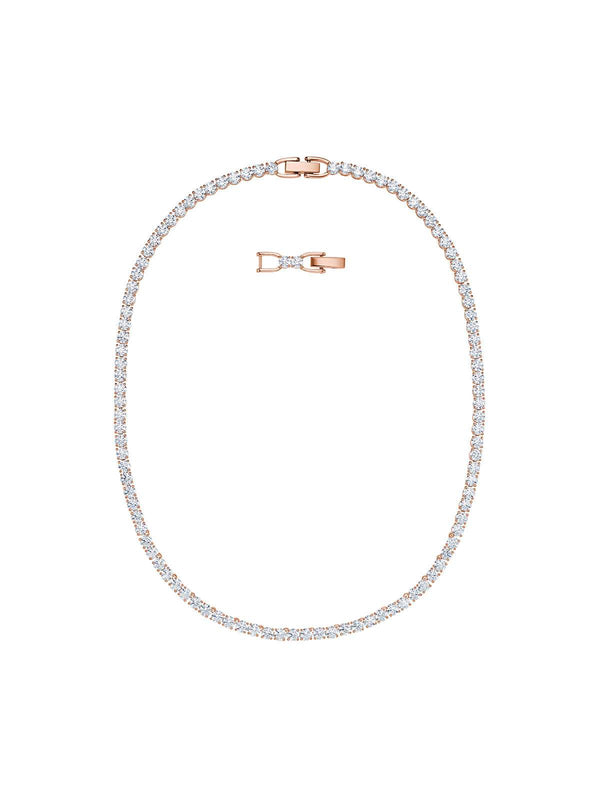 5494607 Swarovski Tennis Deluxe Rose Gold Plated & Crystal All-Around Necklace
