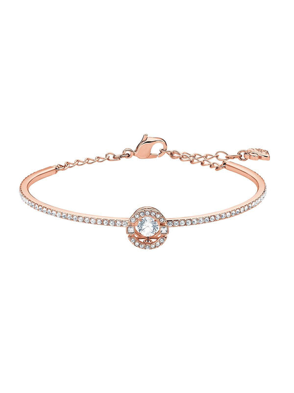 5497483 Swarovski Sparkling Dance Rose Gold Plated and Clear Crystal Bangle