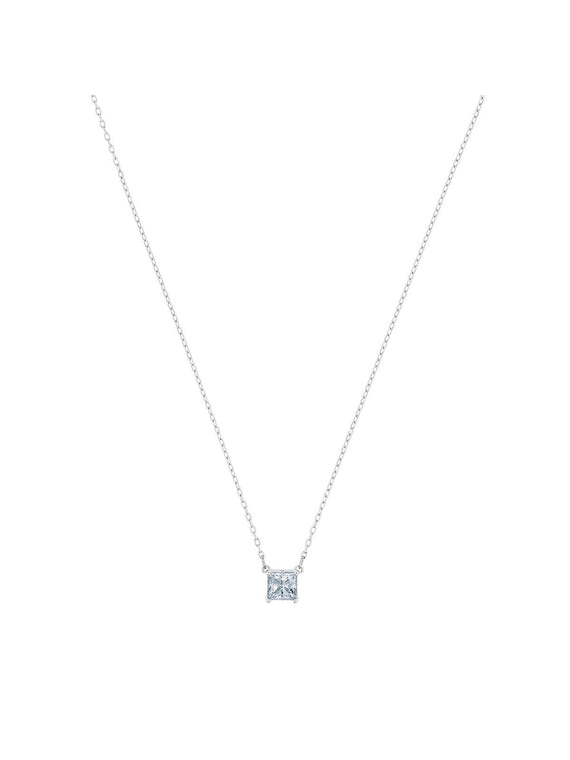 5510696 Swarovski Attract Square Rhodium Plated and Clear Crystal Necklace