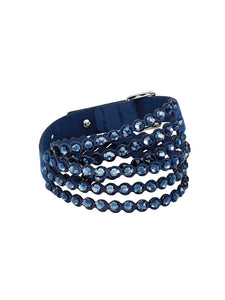 5511697 Swarovski Impulse Navy Blue Crystal Slake Bracelet