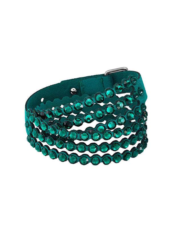 5511700 Swarovski Impulse Emerald Green Crystal Slake Bracelet