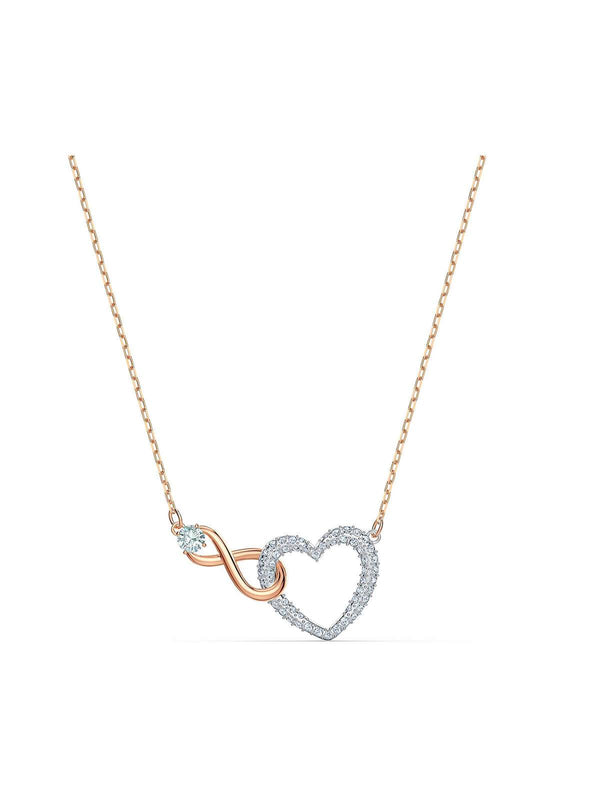 Swarovski Infinity Heart Mixed Metal Plating & Crystal Necklace 5518865