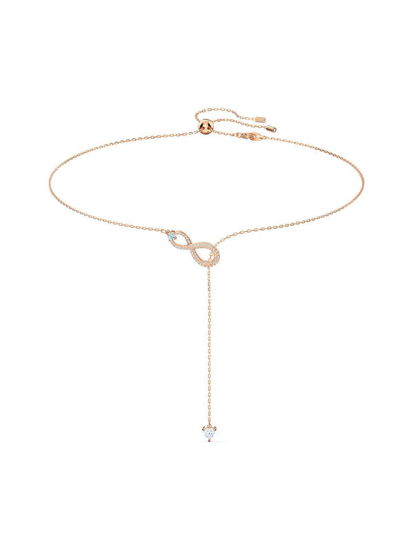 Swarovski Infinity Rose Gold Plated & Crystal Y Necklace 5521346