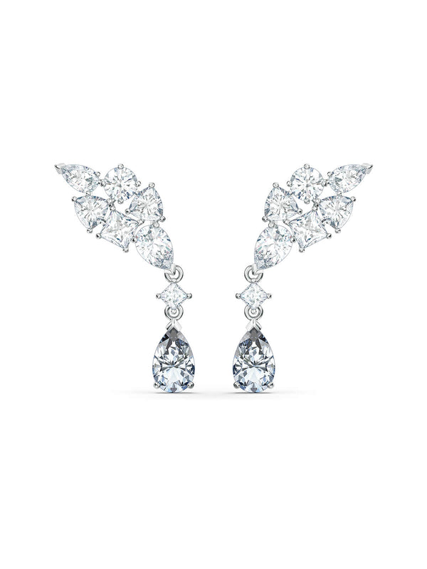 Swarovski Tennis Deluxe Cluster Stud Earrings 5562086