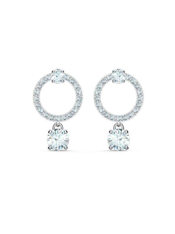 Swarovski Attract Circle Rhodium Plated & Crystal Earrings 5563278