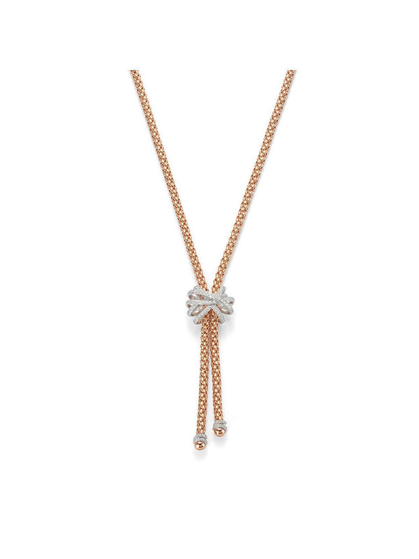 Fope Solo Venezia Necklace in 18ct Rose Gold with Diamonds