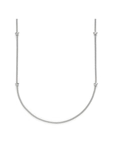 Fope Prima Necklace in 18ct White Gold with Diamonds