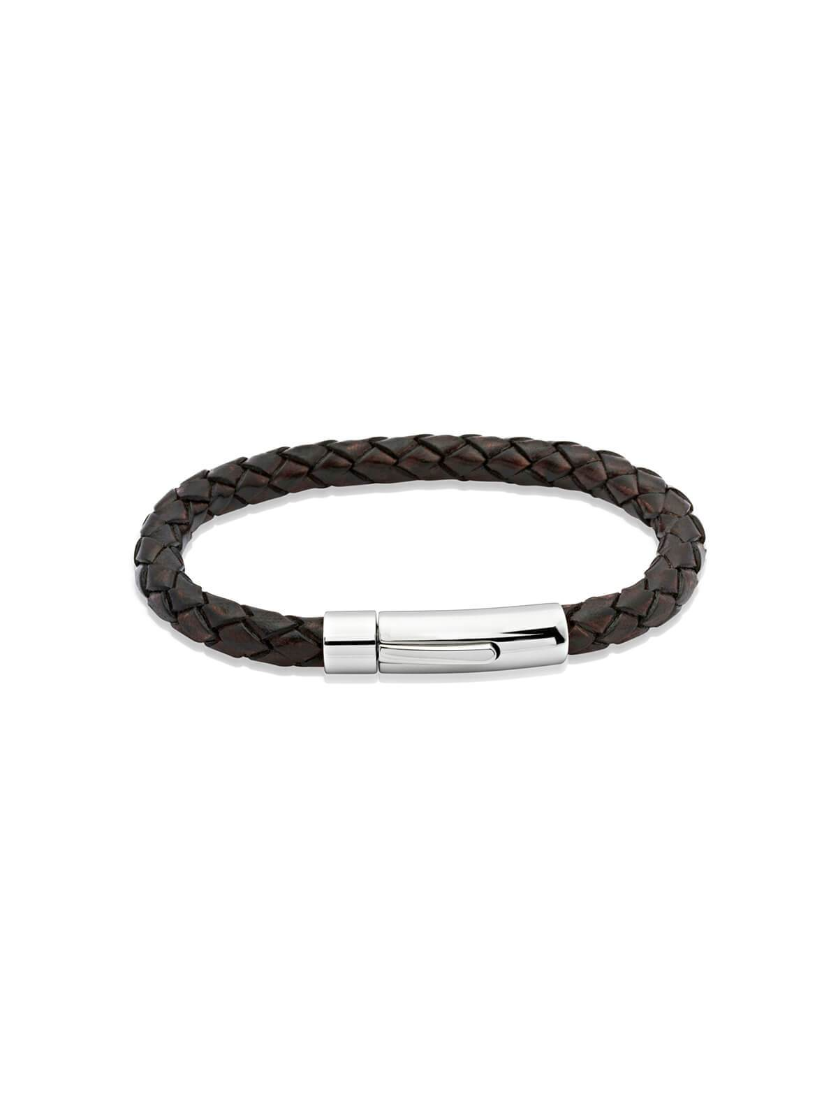 Unique & Co. 23cm Antique Brown Leather Bracelet A40ADB/23CM