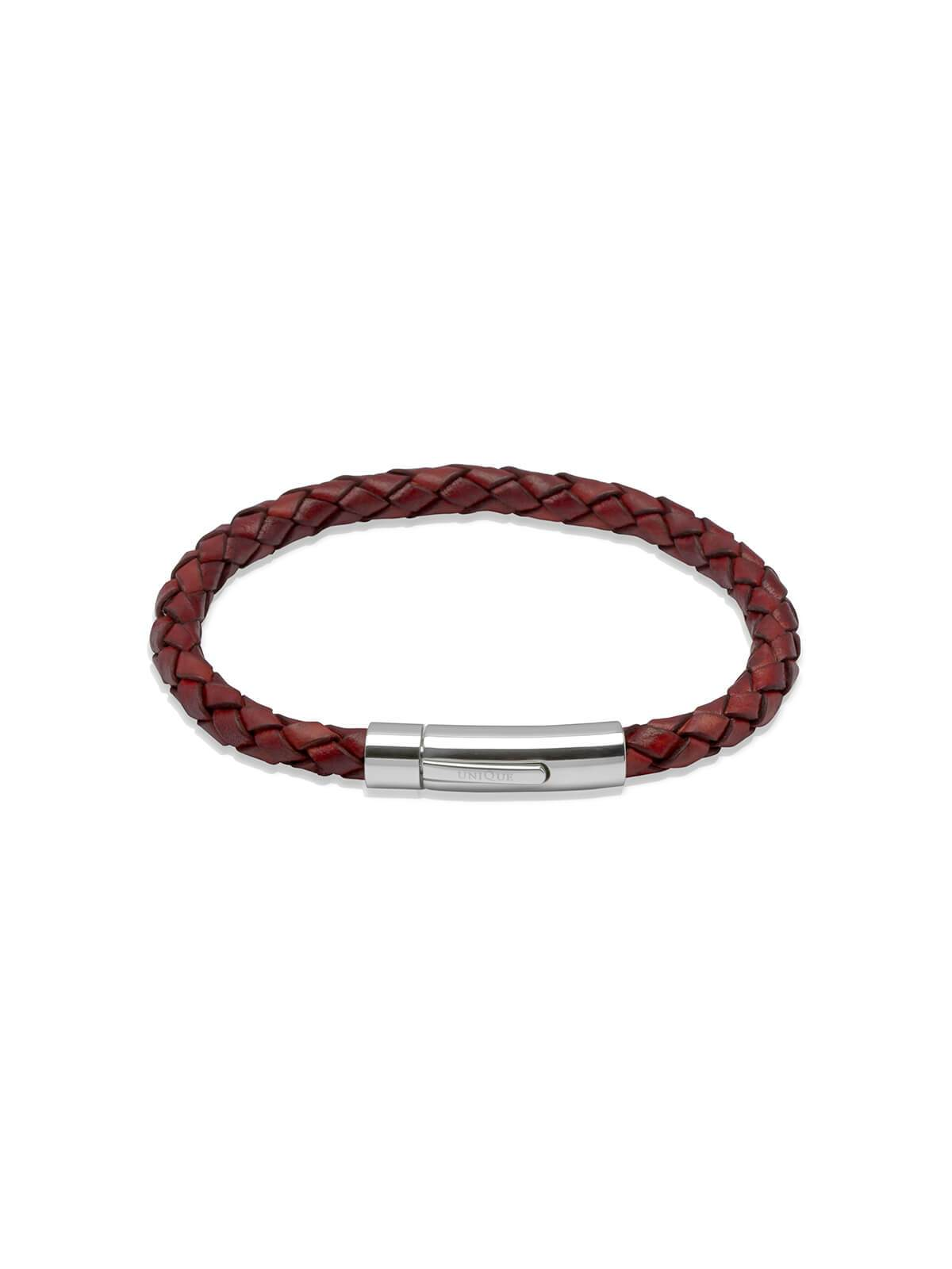 Unique & Co. 21cm Antique Tan Leather Bracelet A40ATA/21CM
