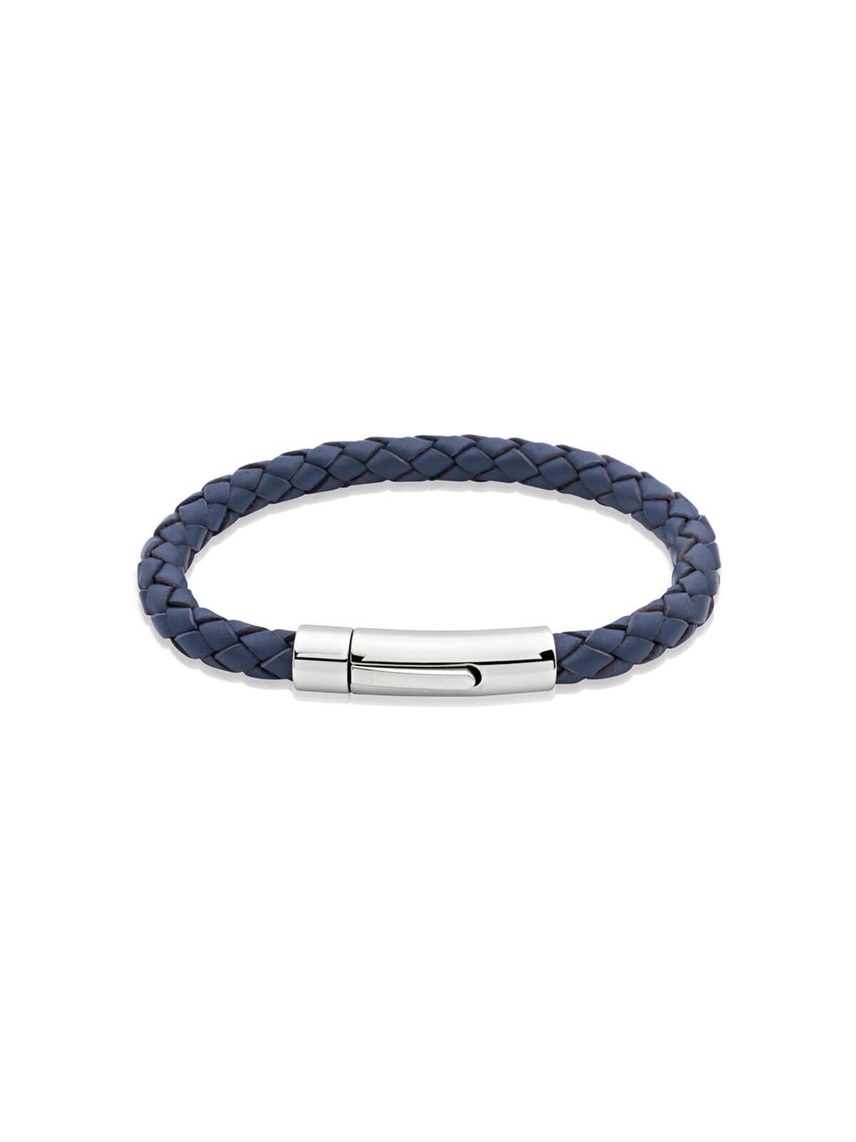 Unique & Co. 23cm Blue Leather Bracelet A40BLUE/23CM
