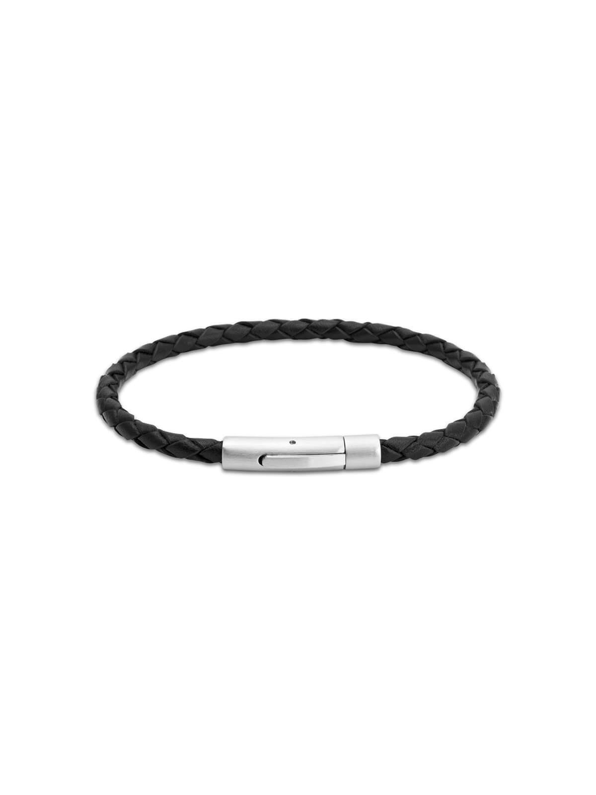 Unique & Co. 21cm Black Leather Bracelet A41BL/21CM